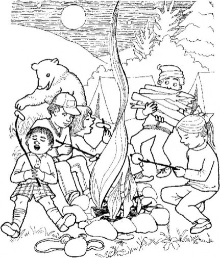 Free Camping Coloring Pages to Print 12490