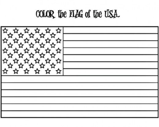 Free Flag Coloring Pages for Toddlers vnSpN