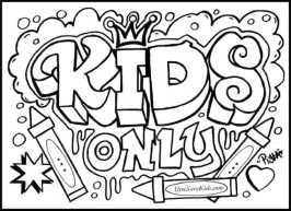 Free Graffiti Coloring Pages 92143