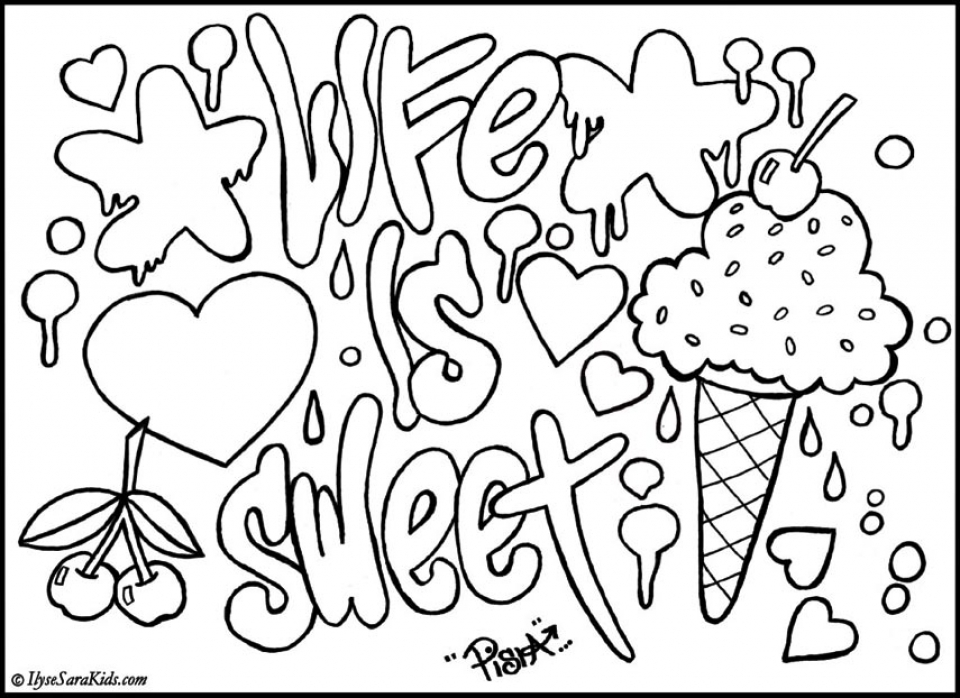 Free Graffiti Coloring Pages to Print   01276