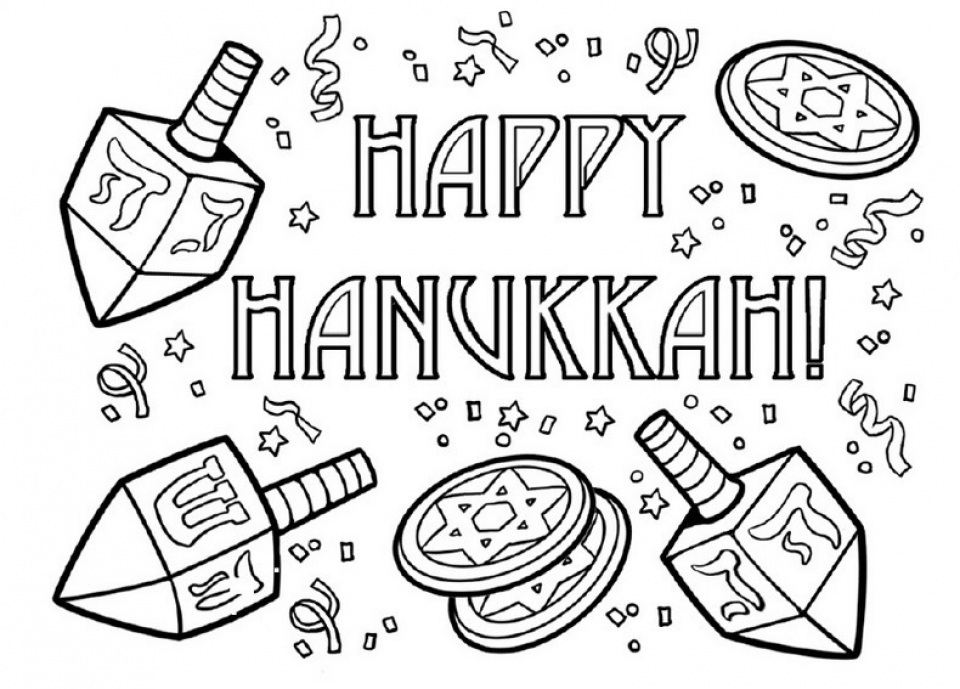 Free Hanukkah Coloring Pages for Kids   ddpA0
