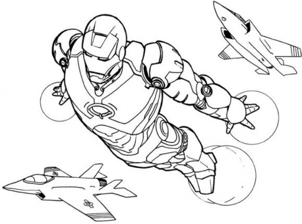 20+ Free Printable Iron Man Coloring Pages