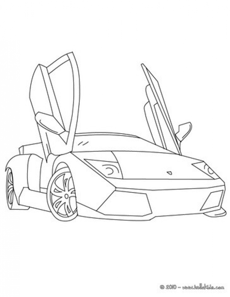 Get This Free Lamborghini Coloring Pages to Print 12490