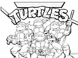 Free Ninja Turtle Coloring Page to Print 01276