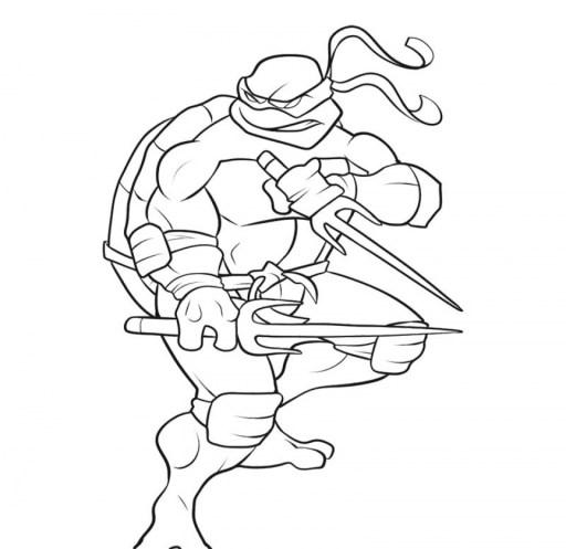 Free Ninja Turtle Coloring Page to Print 76049