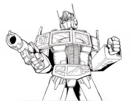 Free Optimus Prime Coloring Page for Toddlers p97hr