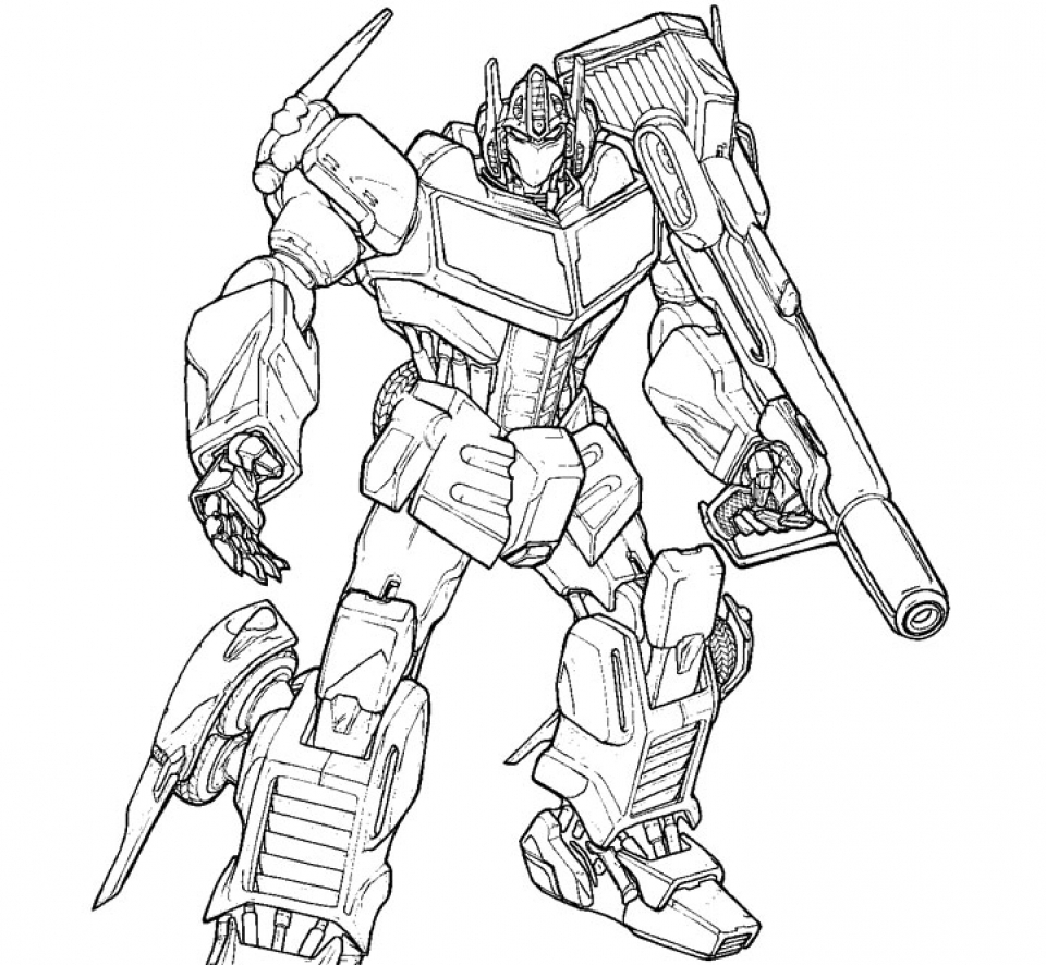 Get This Free Picture of Optimus Prime Coloring Page prmlr