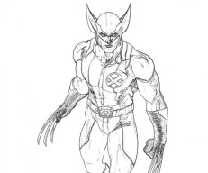Free Picture of Wolverine Coloring Pages mbYjg