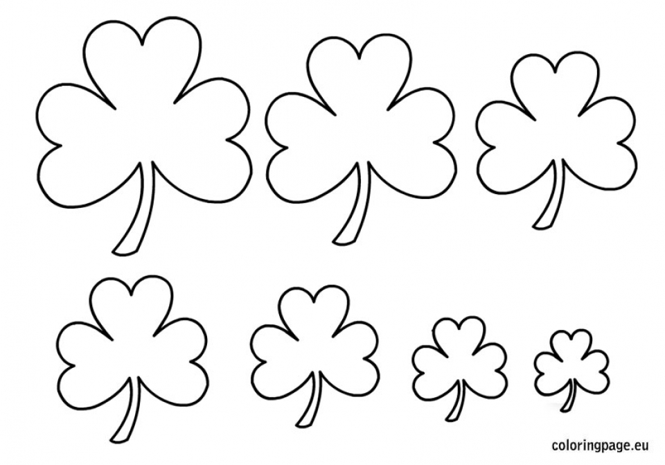 Get This Free Preschool Shamrock Coloring Pages to Print