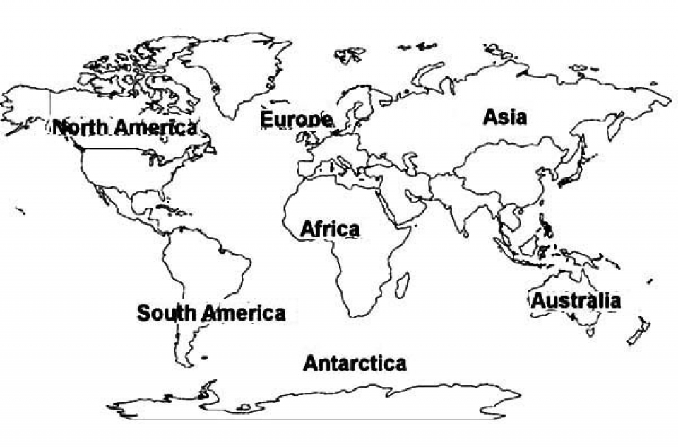 Get This Free Preschool World Map Coloring Pages to Print