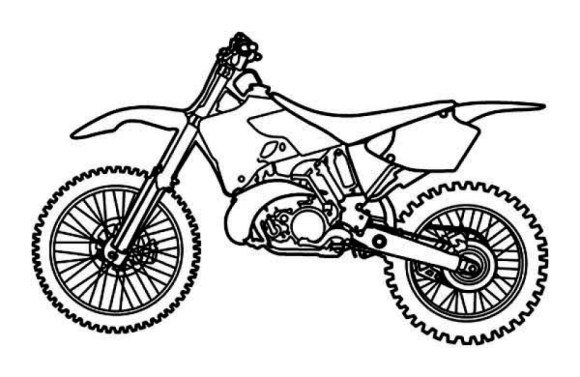Free Printable Motorcycle Coloring Pages For Kids | 377x580