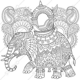 Free Printable Elephant Coloring Pages for Adults zc579