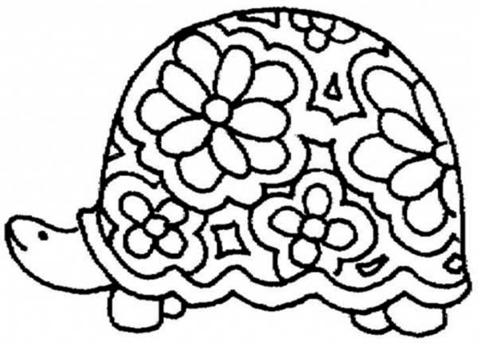 Free Printable Turtle Coloring Pages for Kids   5gzkd