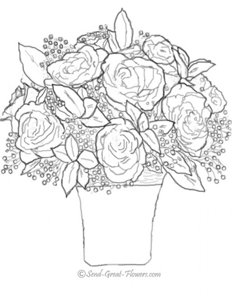 Free Roses Coloring Pages for Adults to Print 39122