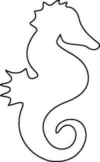 Seahorse Coloring Page - Seahorse Drawing , Transparent Cartoon ... | 323x200