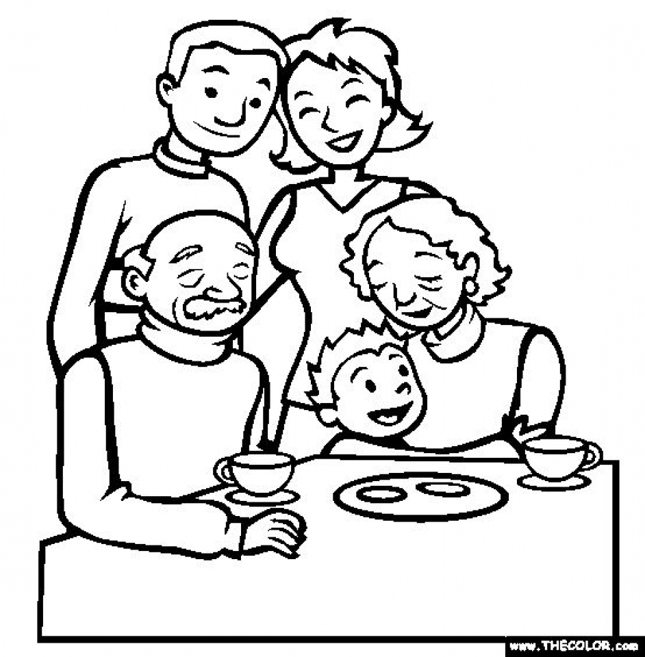 Free Simple Family Coloring Pages for Children   af8vj
