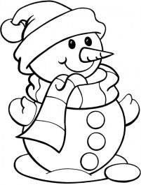 Free Snowman Coloring Pages 25762