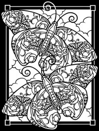 Get This Free Stained Glass Coloring Pages 92143