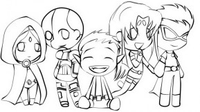 Free Teen Titans Coloring Pages for Kids ddpA0