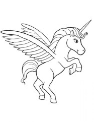 Free Unicorn Coloring Pages 4488