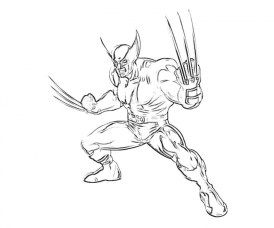 Free Wolverine Coloring Pages for Toddlers vnSpN