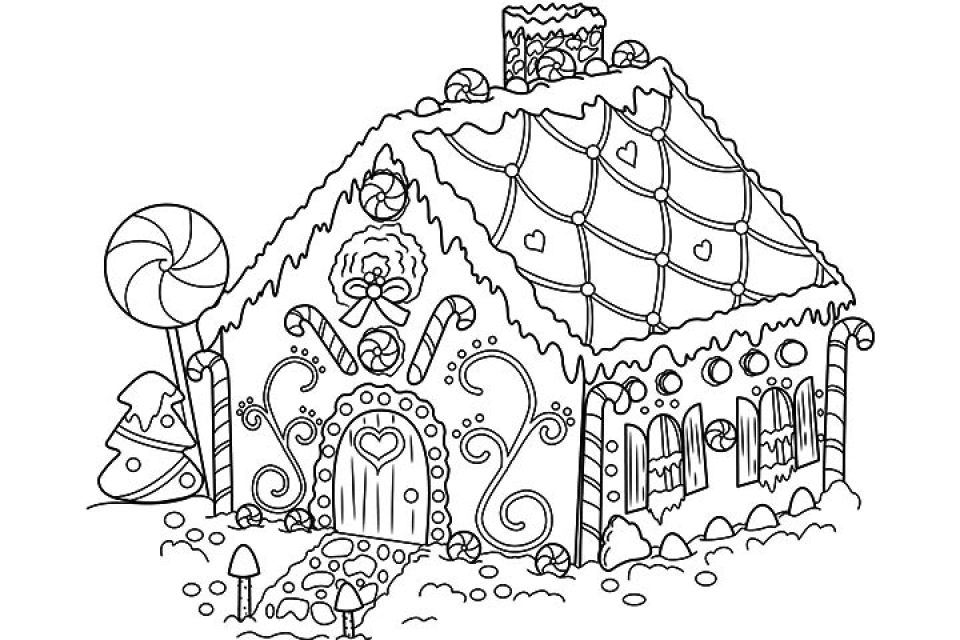 - 20+ Free Printable Gingerbread House Coloring Pages - EverFreeColoring.com