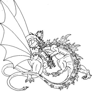 Godzilla Coloring Pages to Print Online K0X5s