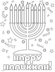 Hanukkah Coloring Pages Free to Print JU7zm