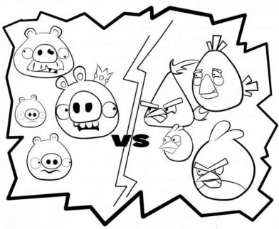 Image of Angry Bird Coloring Pages to Print for Kids EhR0n