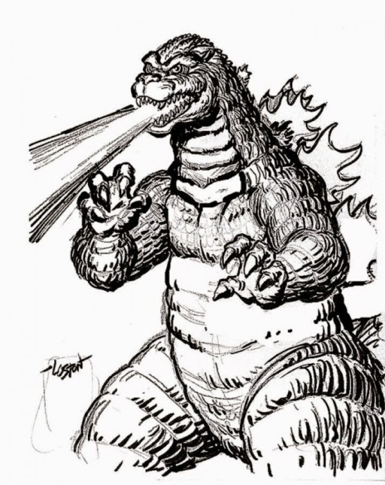 Image of Godzilla Coloring Pages to Print for Kids EhR0n