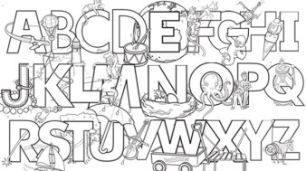 Image of Letter Coloring Pages to Print for Kids EhR0n