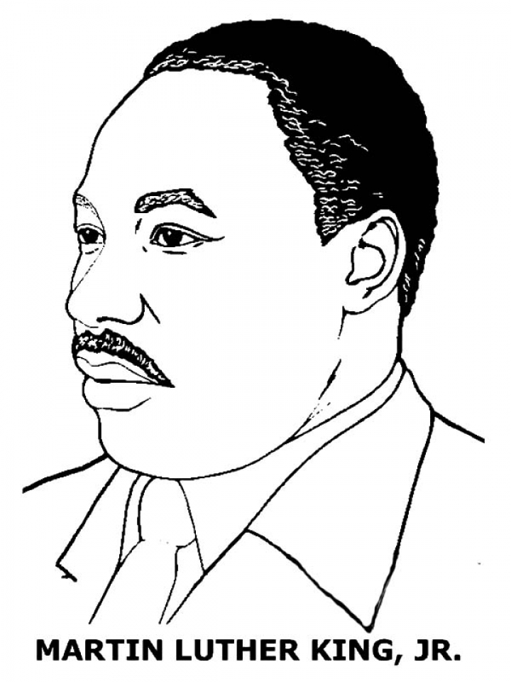 Image of Martin Luther King Jr Coloring Pages to Print for Kids   uan64