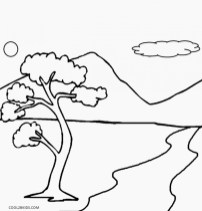 Image of Nature Coloring Pages to Print for Kids uan64