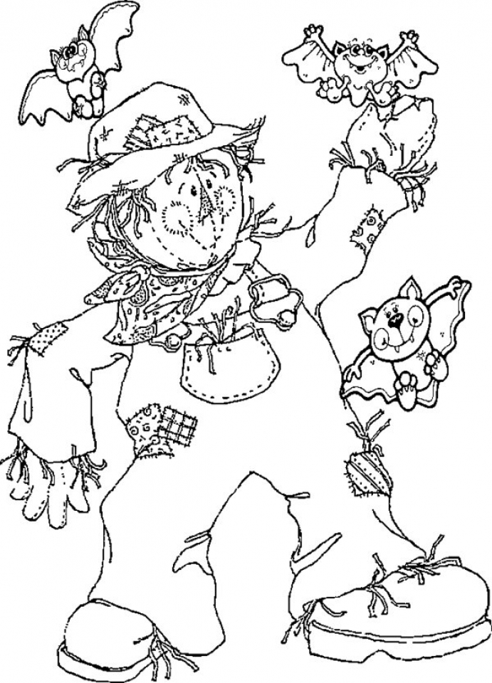 Get This Image of Scarecrow Coloring Pages to Print for ...
