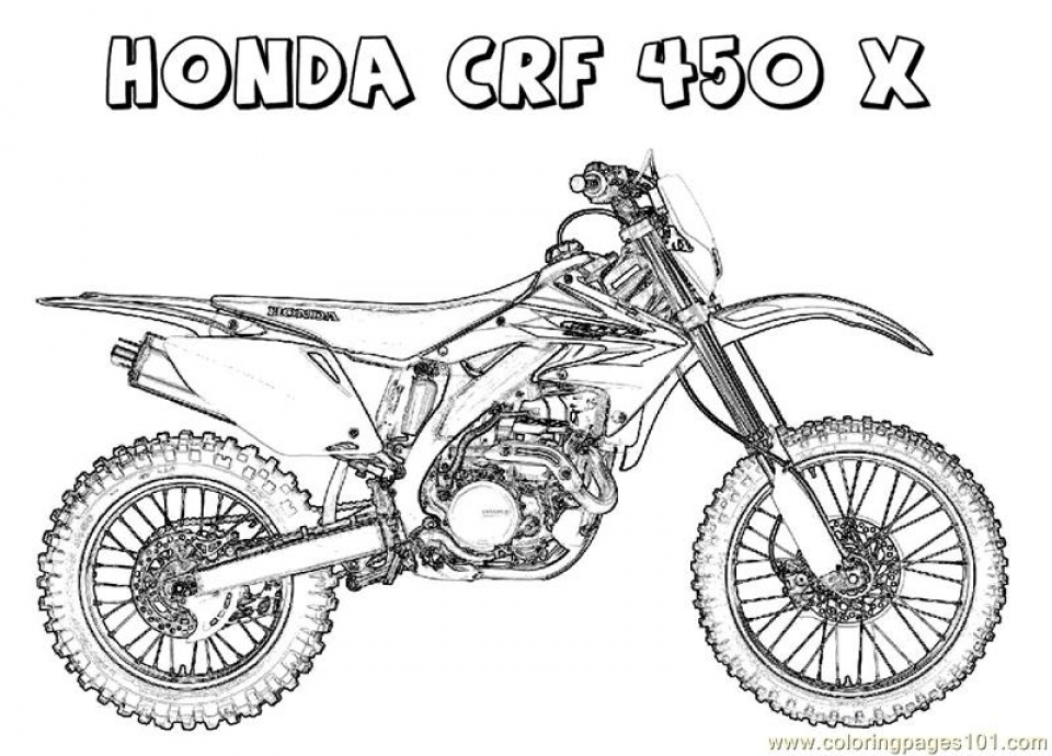 Get This Kids' Printable Dirt Bike Coloring Pages Free