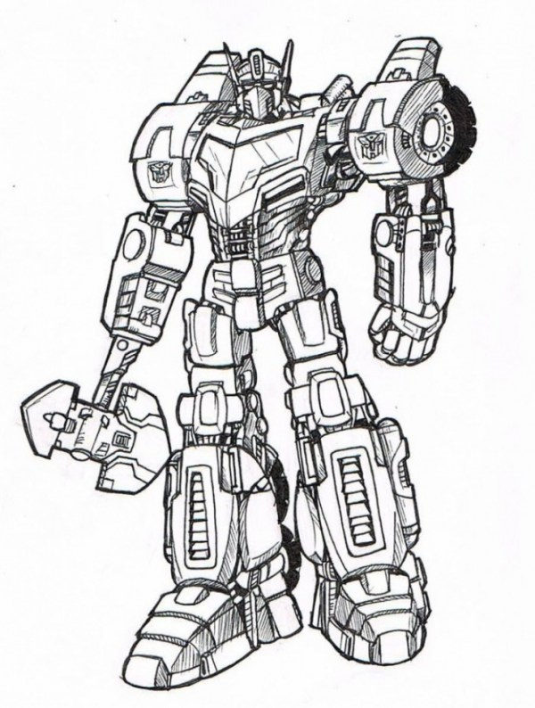 Kleurplaten Transformers 2.20 Vehic G1 Optimus Prime Coloring Pages Ideas And Designs