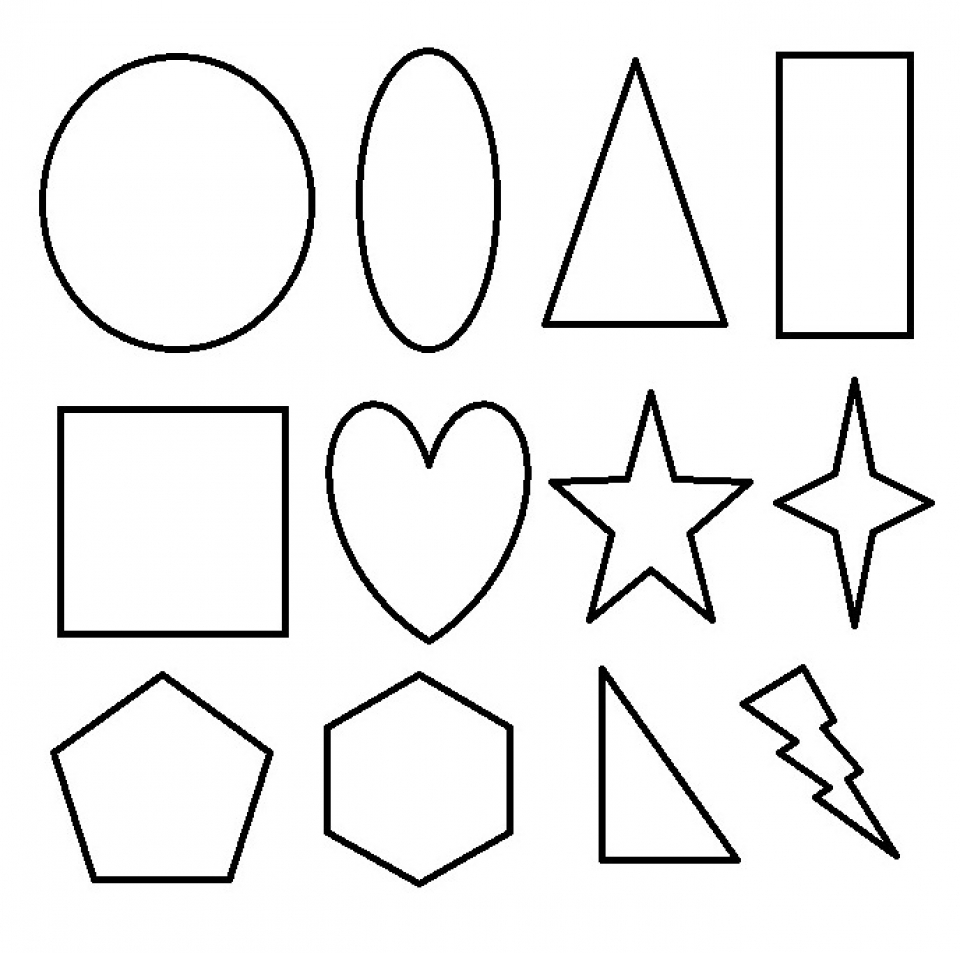 Shapes Coloring Pages For Toddlers | Shape coloring pages, Cool ... | 953x960