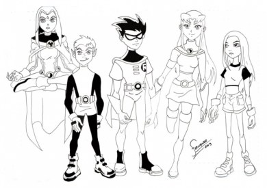 Kids' Printable Teen Titans Coloring Pages Free Online cIxtO