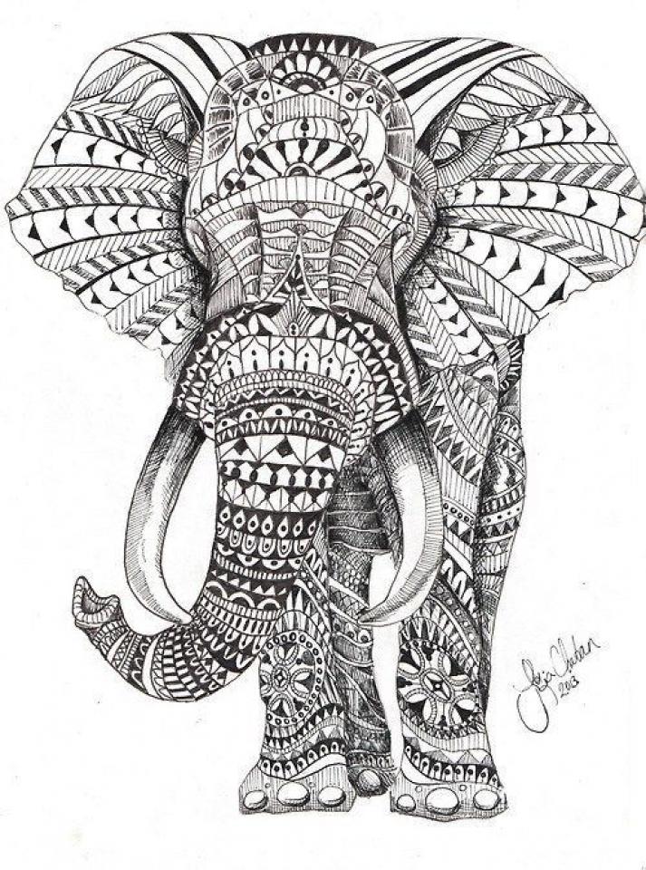 Mandala Elephant Coloring Pages   5f78h0
