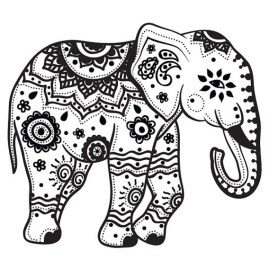 Mandala Elephant Coloring Pages 7e3v9