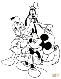 Mickey Mouse Coloring Page Free Printable 75185