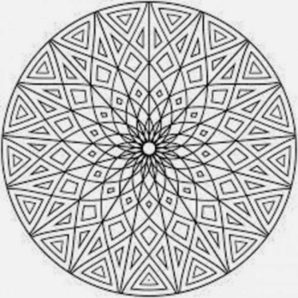 Mosaic Coloring Pages Free Printable   42032