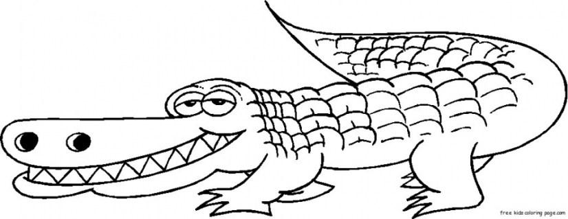 Online Alligator Coloring Pages for Kids sz5em