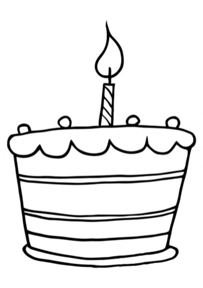 Online Birthday Cake Coloring Pages 88275
