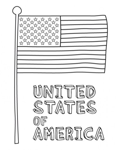 Online Flag Coloring Pages to Print aycRt