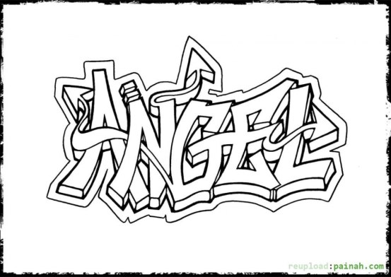 Free Graffiti Coloring Page | Coloring pages, Family coloring ... | 392x553