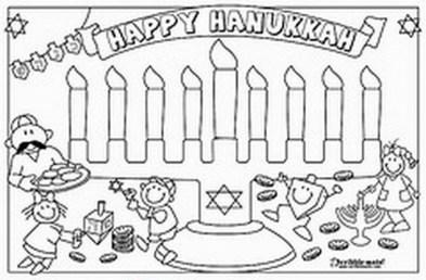 Online Hanukkah Coloring Pages for Kids 8QgDr