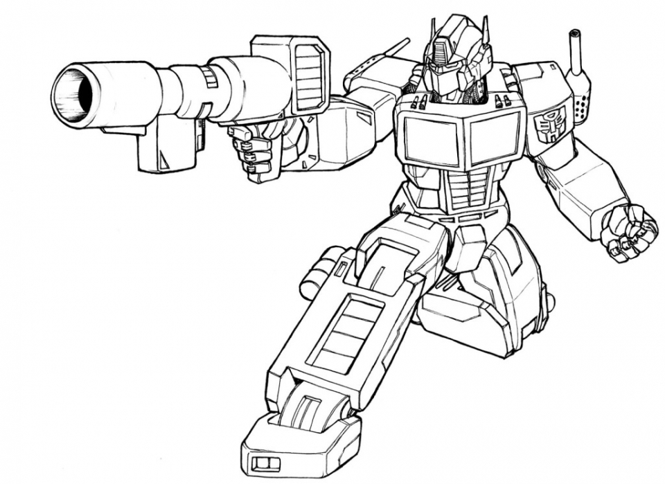 truck coloring page optimus prime coloring page - Optimus Prime Truck Coloring Page