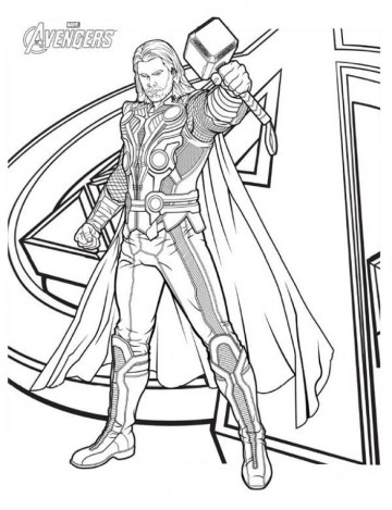 Online Thor Coloring Pages 60096
