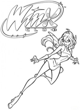 Online Winx Club Coloring Pages to Print swsyq